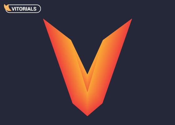 Letter V logo in Adobe Illustrator