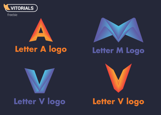 Ltter V, letter M and letter A vector logo freebie