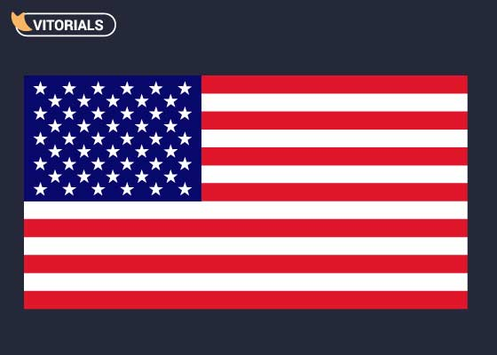 Final image of pixel perfect American flag
