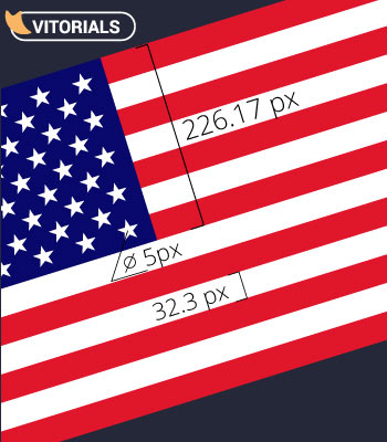 How to create Us Flag in Adobe Illustrator