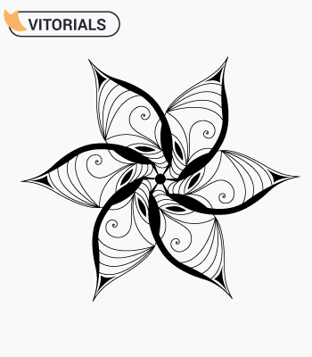 Vector ornamental flower Adobe illustrator