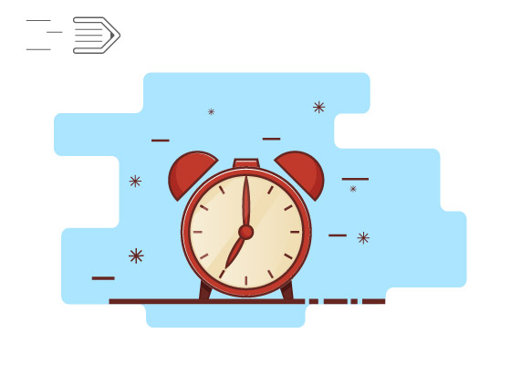Drawing flat line clock icon in Adobe Illustrator