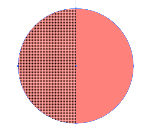 Slice one half of the circle