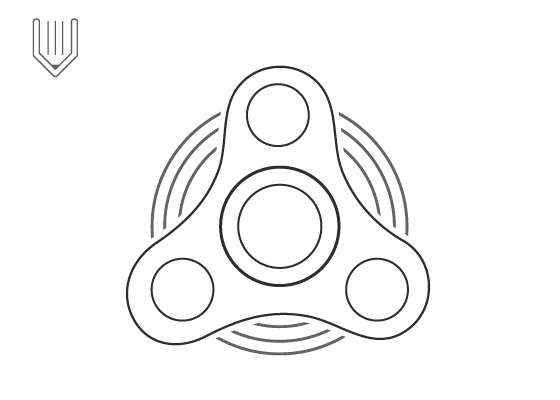 Image of : Fidget spinner vector icon