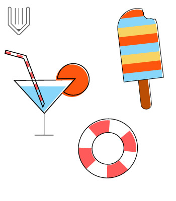 Create summer icons in Adobe Illsutrator