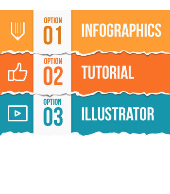 How to create infographics with torn paper effect
