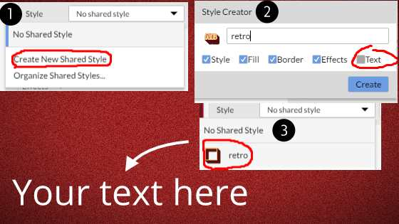 Create and apply shared styles