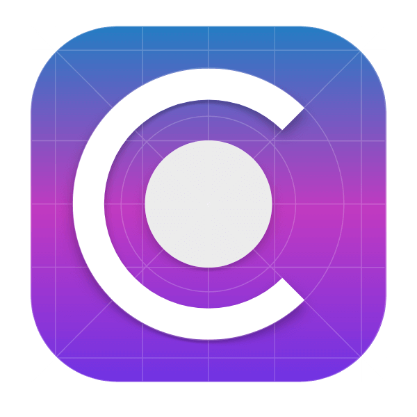 IOS app icon grid for Gravit Designer