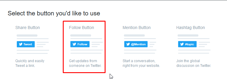Choose button type