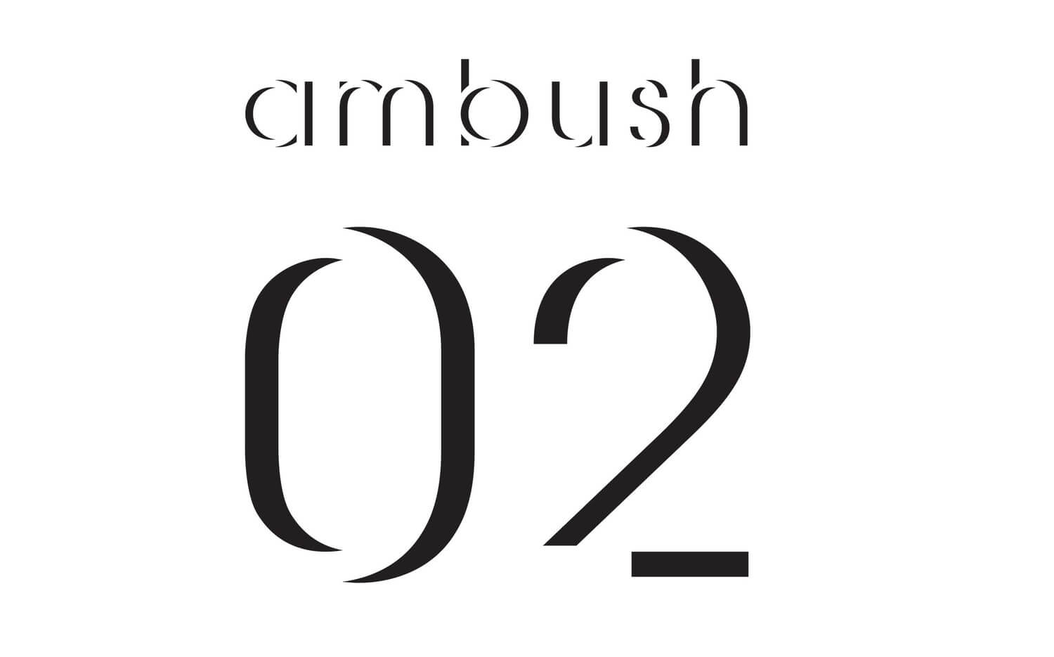 Ambush logo by Pentagram