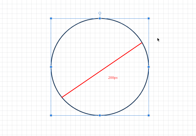 Circle with ellipse tool Gravit