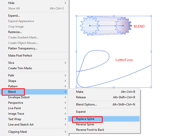 Replace spine of the Blend Tool