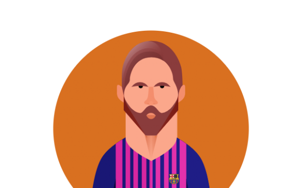Messi flat design illustration