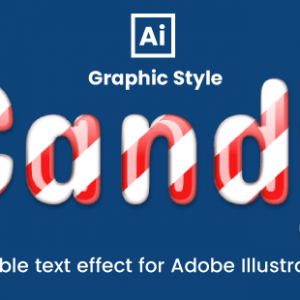 Candy text effect for adobe illustrator
